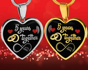 Personalized Engraved 5th Wedding Anniversary Gift For Her Married For 5 Years Ebay