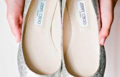 Silver Flat Shoes For Wedding