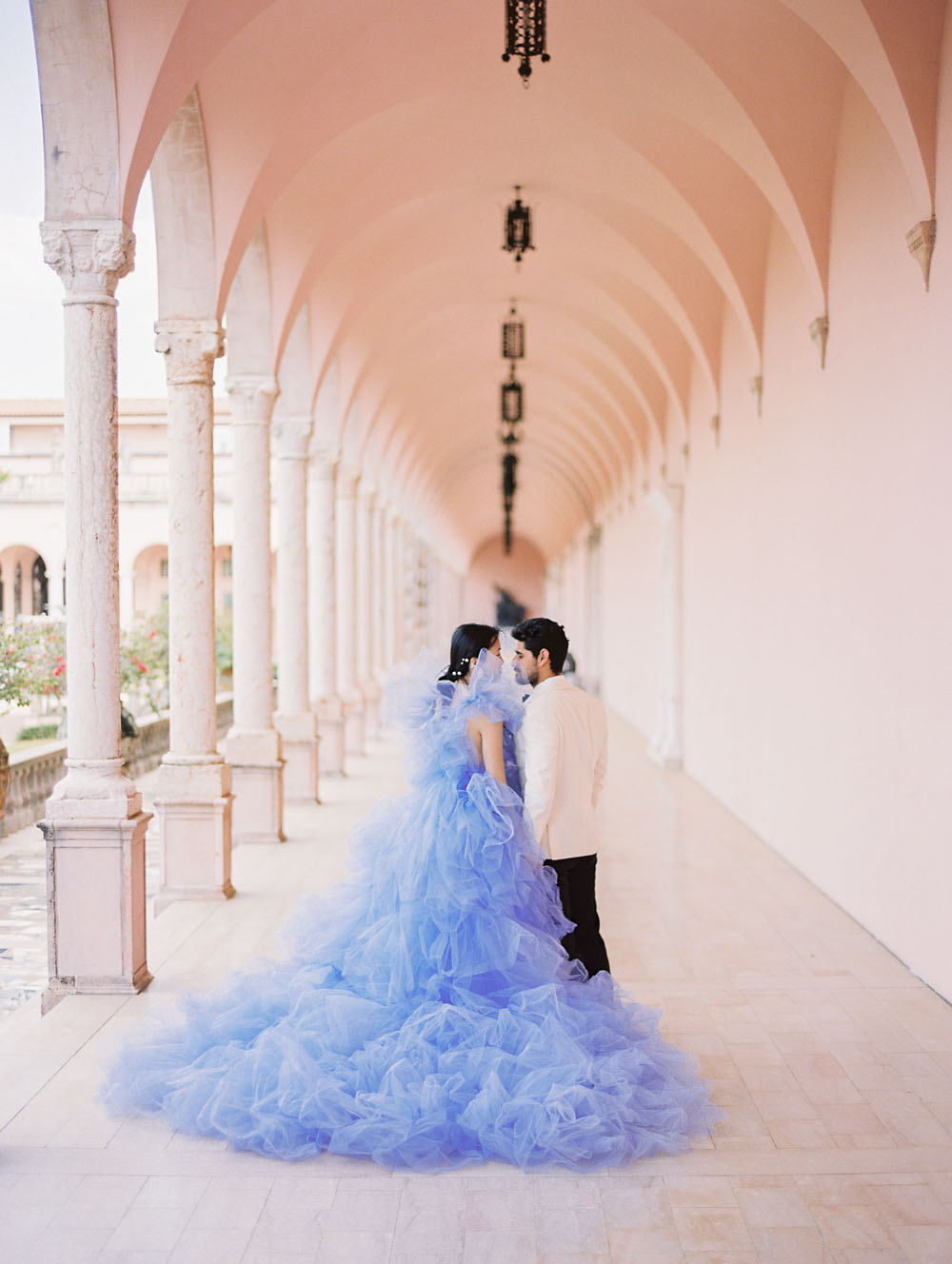Romantic Elopement Inspo With A Purple Tulle Bridal Gown 100 Layer Cake