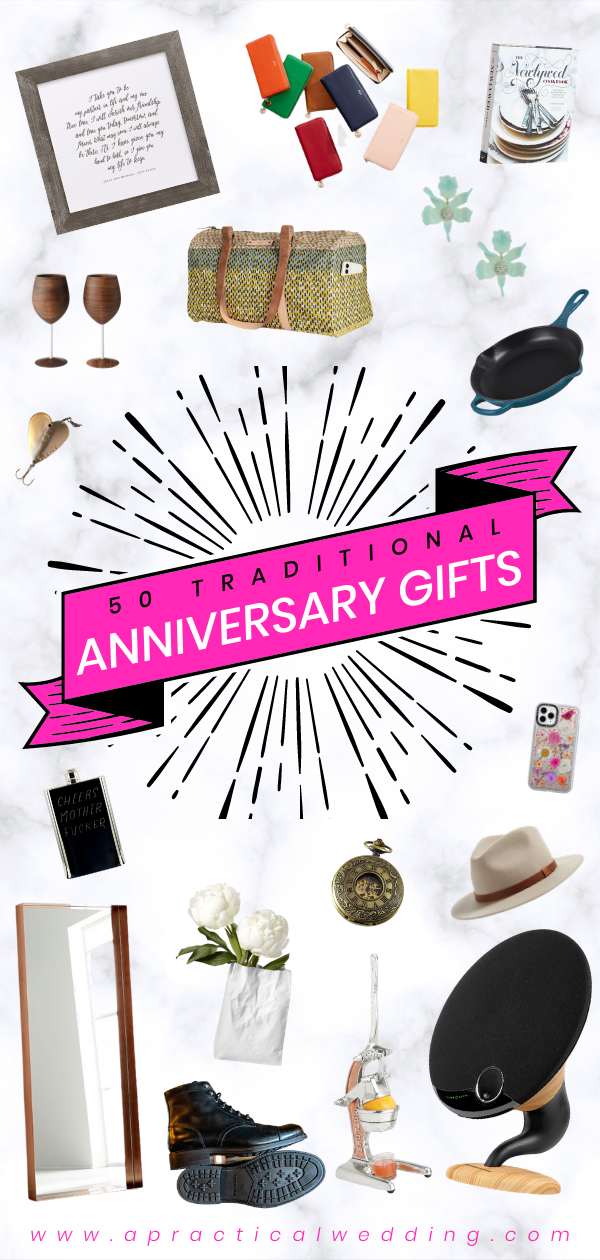 Traditional Anniversary Gifts By Year A Practical Wedding