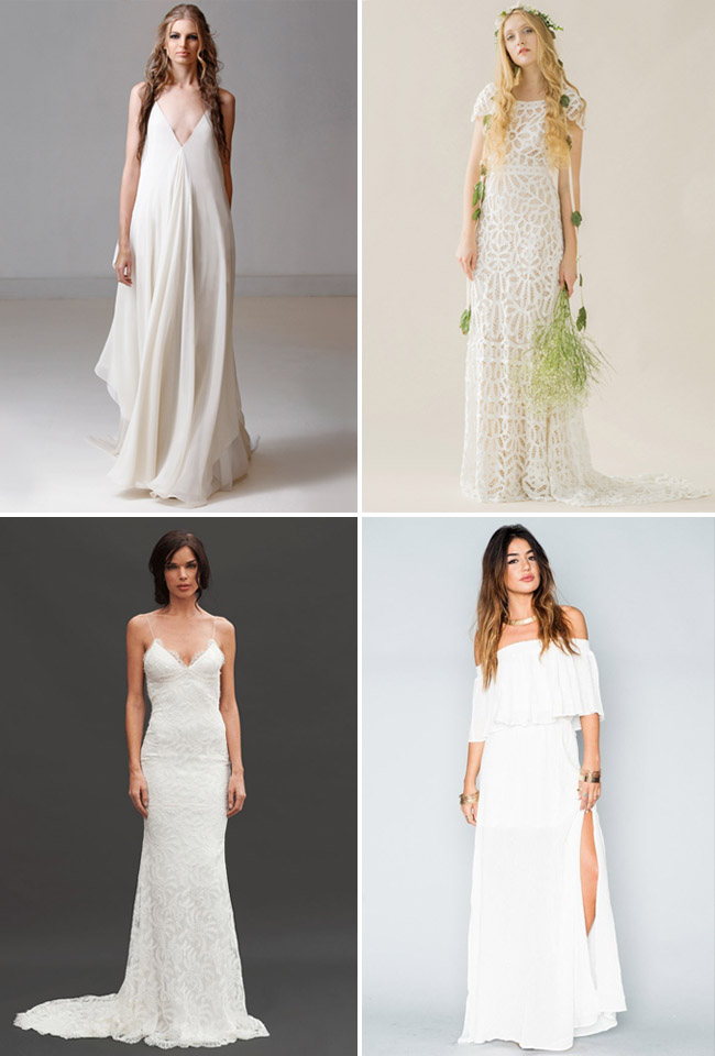 The 20 Best Wedding Dresses For Your Beach Wedding Green Wedding Shoes
