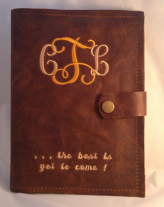 3rd Wedding Anniversary Gift For Her Him Leather Journal Etsy